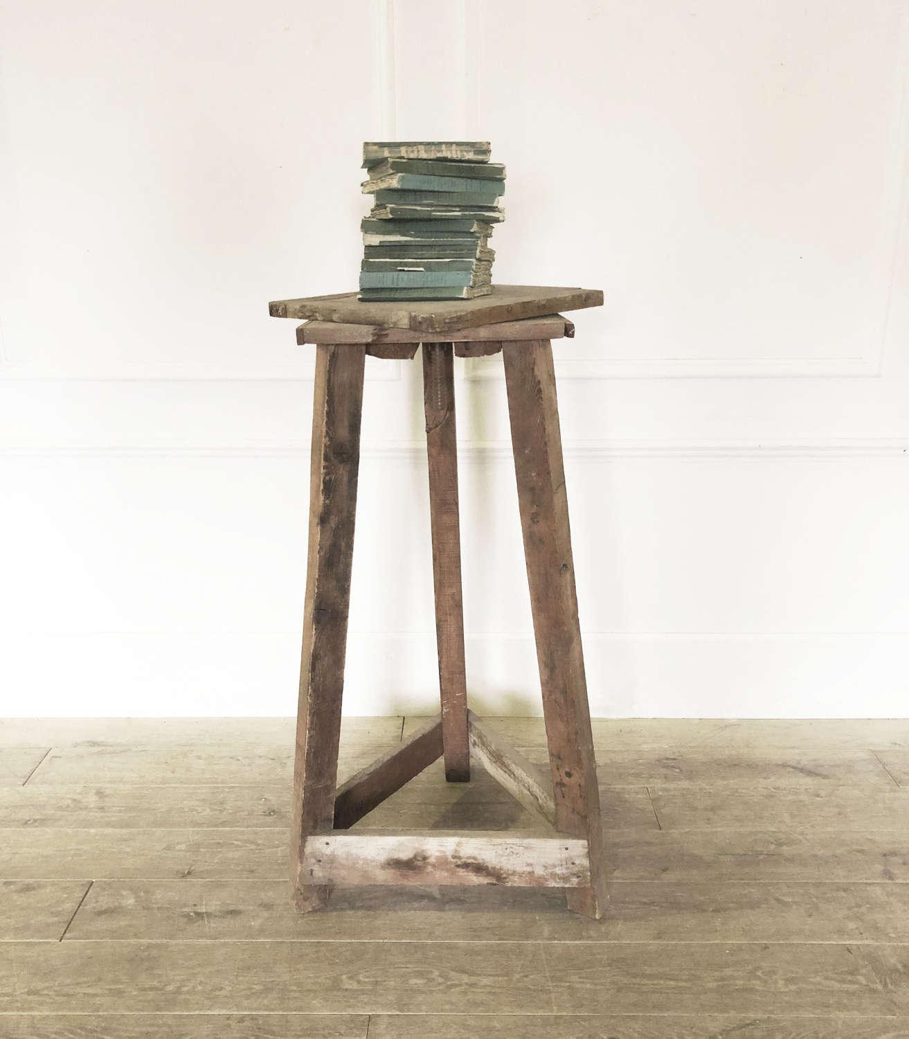 French Rustic Pine Sculptor's Stand - circa 1940