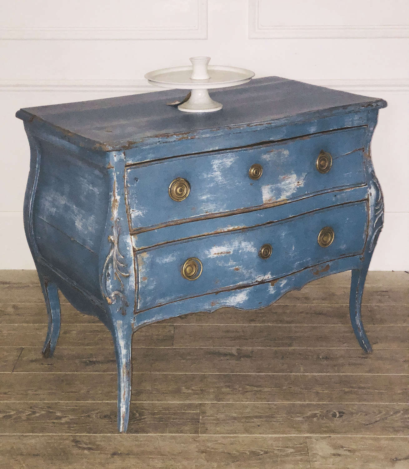 French 18th century Commode Bombee with 2 large drawers - circa 1780