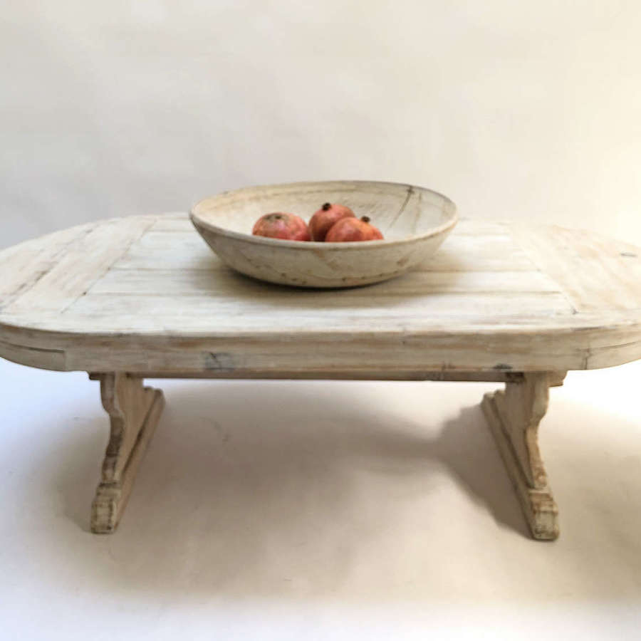 Norwegian Oval Pine Coffee Table - circa 1940