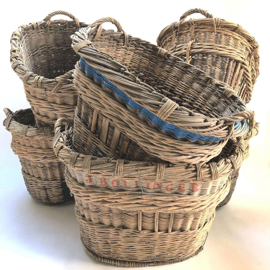 Large French Champagne Harvest Baskets - circa 1900