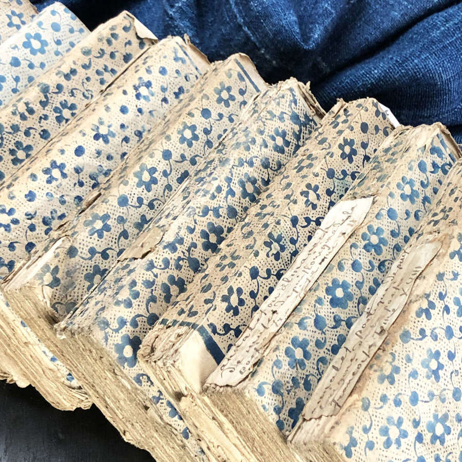 10 rare 18th c French small but pretty Books - circa 1780