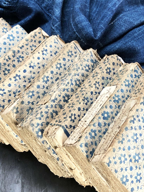10 rare 18th c French small but pretty Books - circa 1780