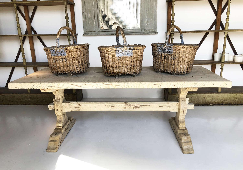 Beautiful 19th c French Oak Farmhouse Table - circa 1850