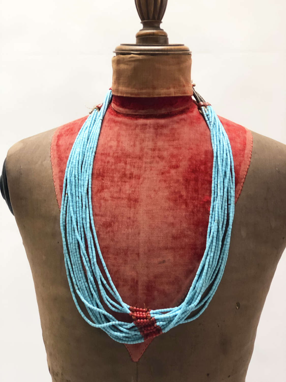 Nigerian Tribal Glass Bead Necklace no.1