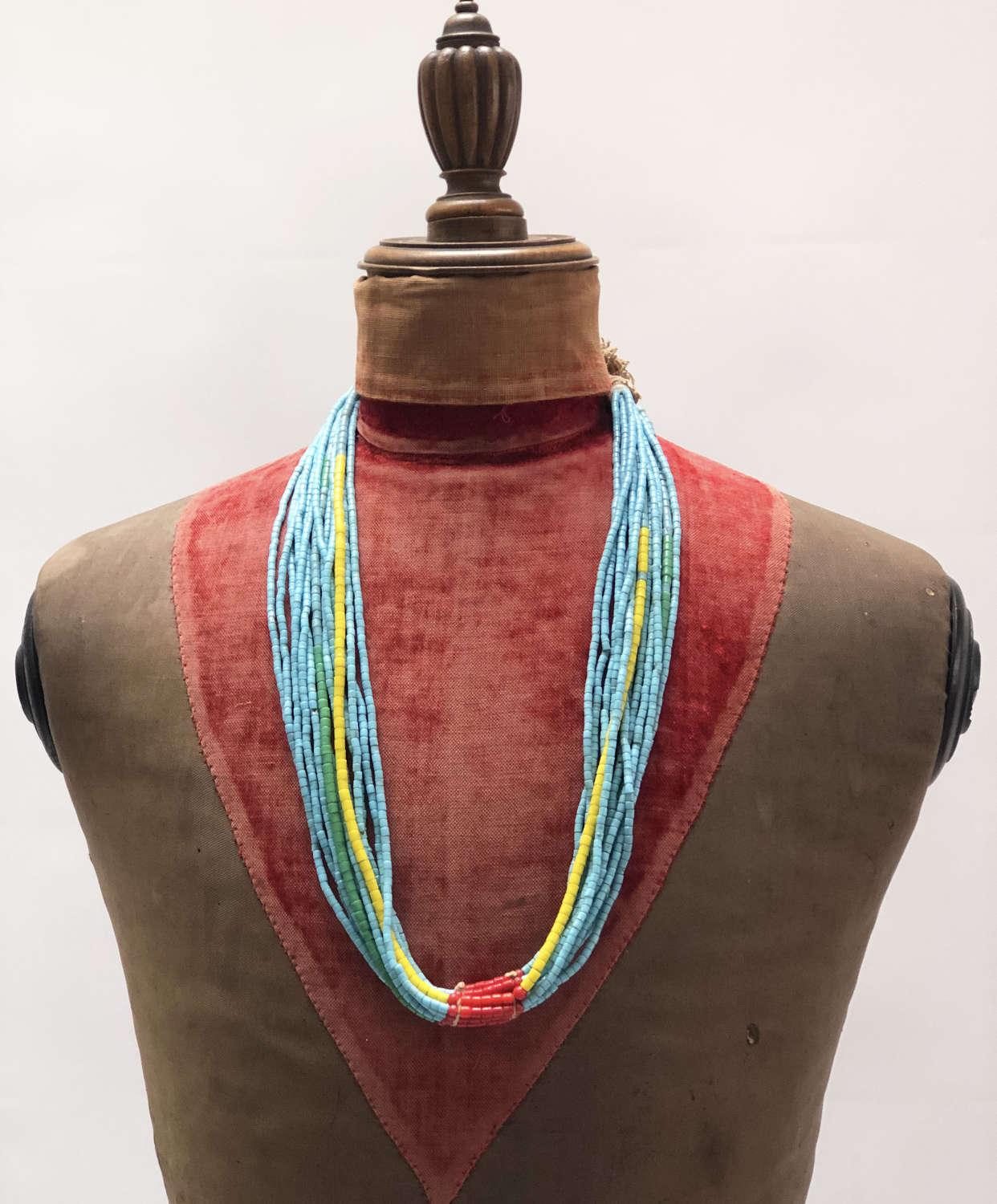 Nigerian Tribal Glass Bead Necklace no.2