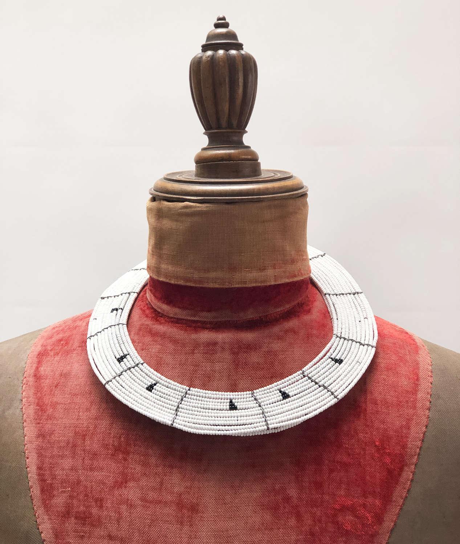 Maasai Beaded Collar Necklace - circa 1950