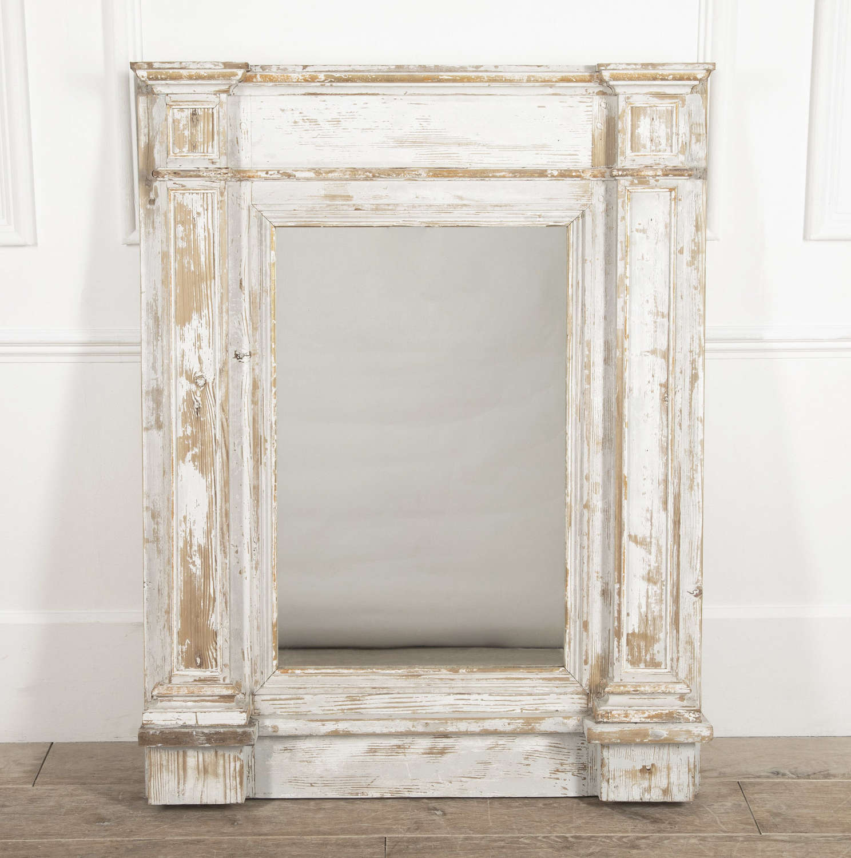 French 18th c White Trumeau Mirror - Circa 1780