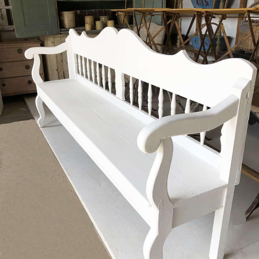 Exceptionally Long 19th c Swedish pine Seat  - circa 1850