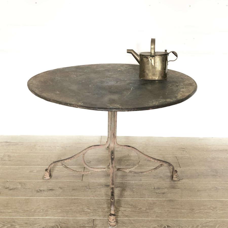 19th c French Round Iron Arras Garden Table - Circa 1880