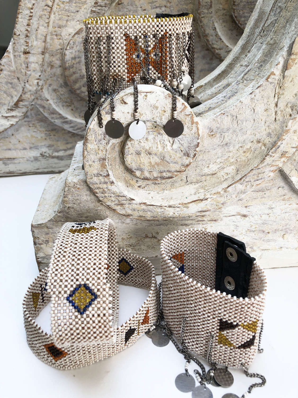 Maasai beaded Armbands and Cuff Bracelets