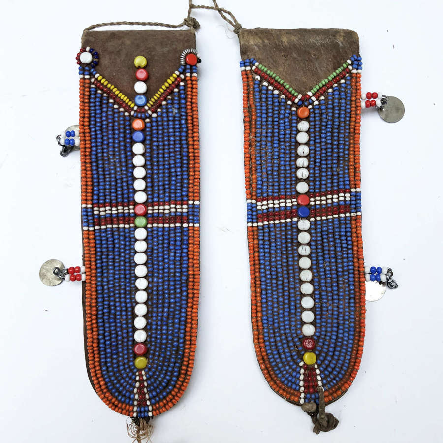Pair of Maasai Traditional Beaded Ear Pieces