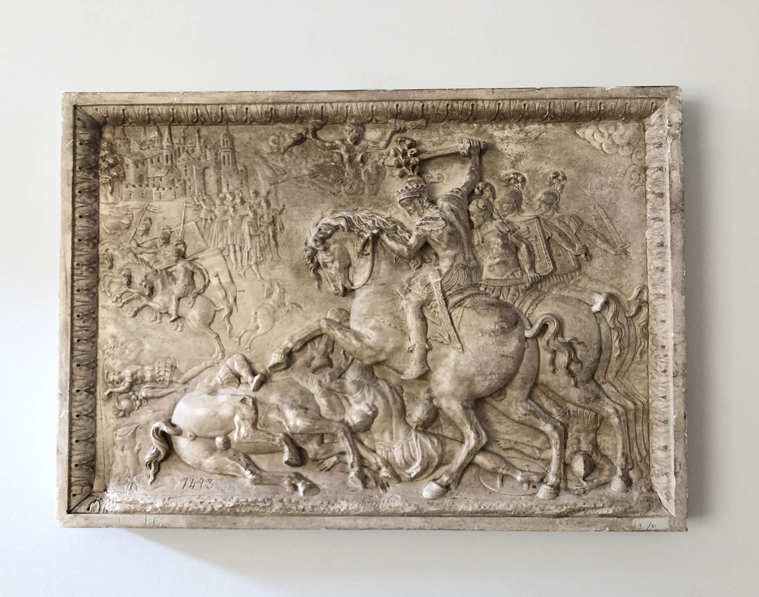 19th c French plaster 'Bas Relief' - circa 1820