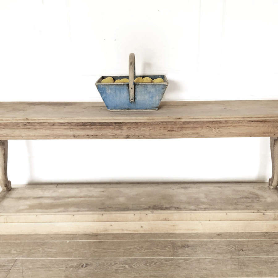 French 19th c Oak Console Table - circa 1870